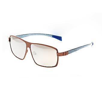 Rasse Finlay Titanium polarisiert Sonnenbrille - braun/Silber