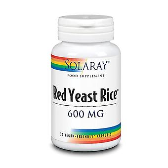 Solaray rode gist rijst 600mg capsules 30 (1502)