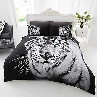 White Tiger Duvet Cover Bedding Set