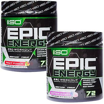 Isolator Fitness Epic Energy Stimulans Pre-Workout Supplement - 72 Portionen