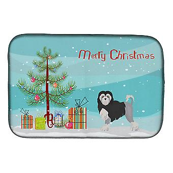 L�wchen or Little Lion Dog Christmas Tree Dish Drying Mat