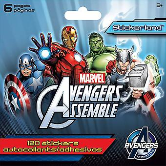 Mini Stickerland Pad - Avengers Assemble - 6 pages Toys Stationery New st5198