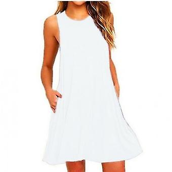 Sleeveless O-neck Casual Loose Plus Size Dress