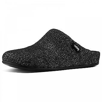 Fitflop™ Chrissie™ Glimmerwool Slipper Mules Black