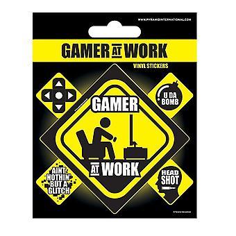 Vinyl Stickers-Gamer at Work