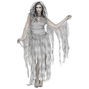 Enchanted Ghost Bride Spirit Haunt Gothic Scary Halloween Womens Costume
