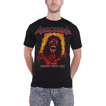Airbourne T Shirt Breakin Outta helvede skelettet Band Logo officielle Herre nye sort