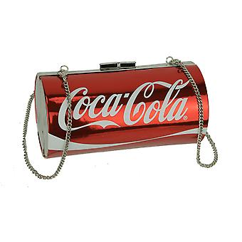 Red Coca-Cola Classic Can Barrel Bag with Removable Strap