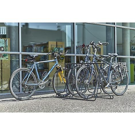 Mottez-opvouwbaar fietsenrek voor 6 fietsen