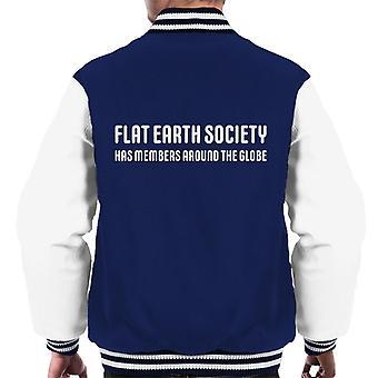 Members Around The Globe The Flat Earth Society Men's Varsity Jacket