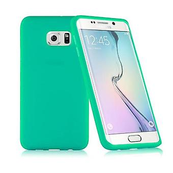 Cadorabo - TPU silikon beskyttende etui (full kropps all-around beskyttelse også for skjerm) for > Samsung Galaxy S6 EDGE PLUS < (SM-G925F) i SEA GREEN