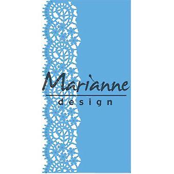 Marianne Design Creatables Lace Border (Small) Die, Metal, Blue, 20.1 x 8.4 x 0.2 cm