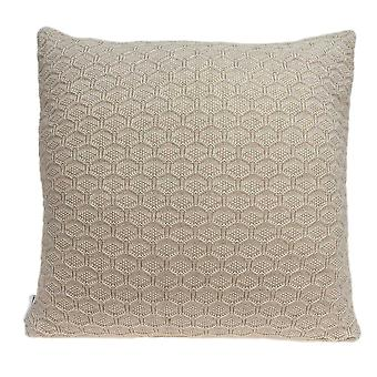 Casual Tan Honeycomb Design Square Accent Pude Cover
