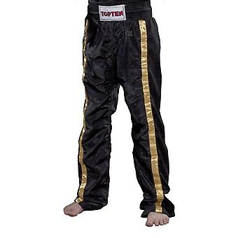 Top Ten Kids Mesh Kickboxing Pantalon noir / or