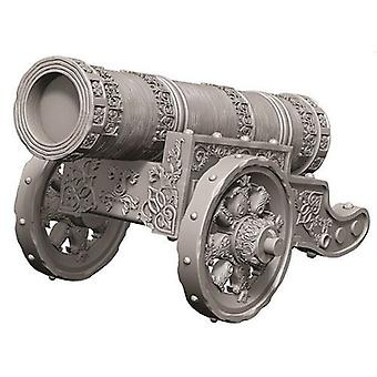 WizKids Deep Cuts Unpainted Miniatures Large Cannon (Pack of 6)