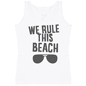 We Rule This Beach - Matching Set - Baby Vest, Dad & Mum Vest
