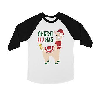 Cristo Llamas divertido BKWT niños béisbol camisa X-mas regalo