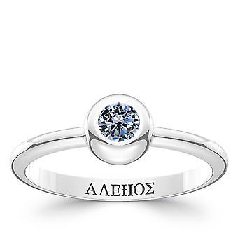 Vermoord 'apos; s Creed Odyssey Sapphire ring in Sterling Zilver ontwerp door BIXLER
