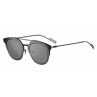 Dior Composit 1.0 003/0T Matte Black/Grey-Silver Mirror Sunglasses