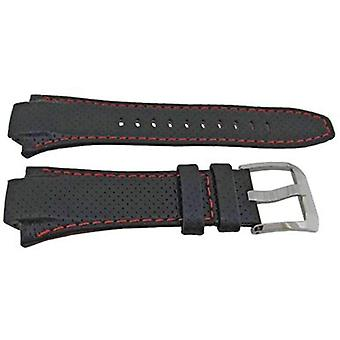 Authentic seiko watch strap 28.5mm calf - black 4kg8jz
