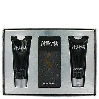 ANIMALE by Animale Gift Set -- 3.3 oz Eau De Toilette Spray + 3.4 oz After Shave Balm + 3.4 oz Body Wash / -- (Men)