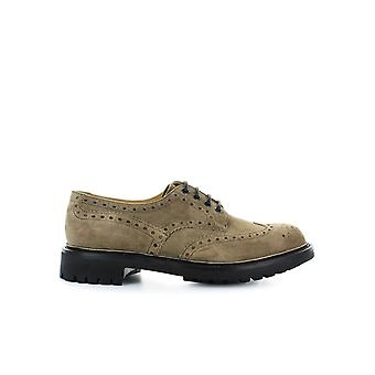 CHURCH'S BURNT WAXED SUEDE MC PHERSON LACE UP
