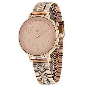 Fossil Women's Hybrid Smartwatch Cameron Rose Gold Watch - FTW5054