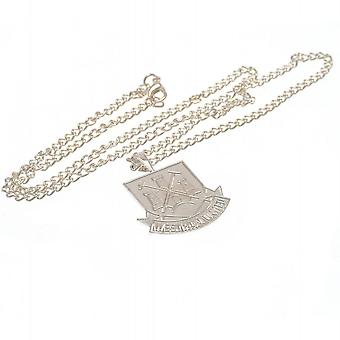 West Ham United F.C. Silver Plated Pendant Chain