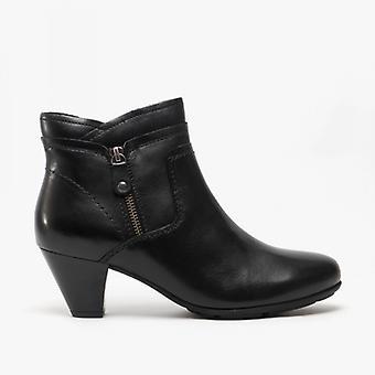 Cipriata Cleo damer läder sida zip ankel stövlar svart