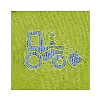 Vossen 170284-530 Girl's Kids Farm Meadow Green Cotton Dressing Gown Robe