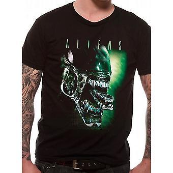 Aliens Unisex Adult Alien Head T-Shirt
