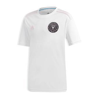 adidas Inter Miami 2020 Kids Lyhythihainen koti jalkapallo paita valkoinen/vaaleanpunainen