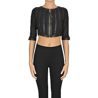 Nenette Ezgl266121 Women's Black Polyurethane Blazer