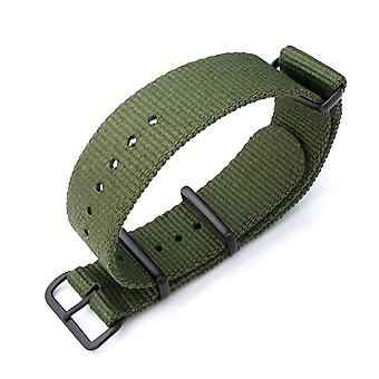 Strapcode n.a.t.o watch strapmiltat 21mm g10 nato military watch strap ballistic nylon armband, pvd black - forest green