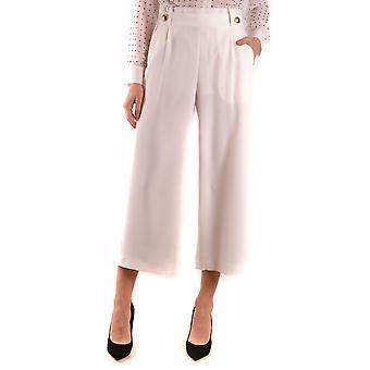 Hanita Ezbc433002 Women's White Polyester Pants