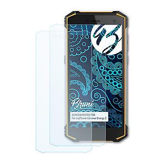 Bruni 2x Schutzfolie kompatibel mit myPhone Hammer Energy 2 Folie