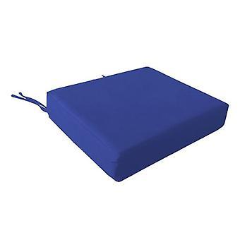 Schuim rolstoel zitkussen in katoen cover-blauw