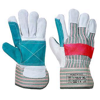 Portwest - klassische Doppel Palm Rigger Handschuh (1 Paar Pack)