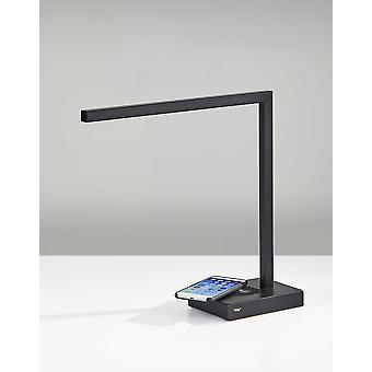 Slender Bar Black Metal LED Charging Desk Light