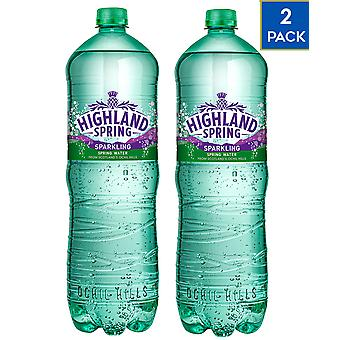 2 x 1.5 Litre Highland Spring Sparkling Mineral Water Healthy Fizzy Soft Drink