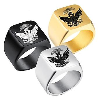 33 Degree double eagle crown masonic ring