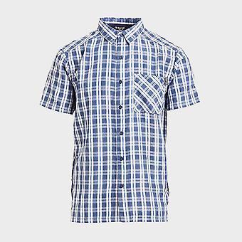 Nieuwe Regatta Men's Mindano V Short Sleeve Shirt Blauw