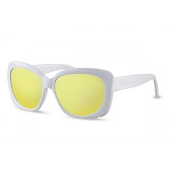 Sunglasses Women's Butterfly Cat.3 White/Yellow (CWI1570)