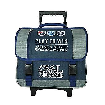 Bagtrotter OVNI17BALL Oval Legend Trolley for School - size-41 x 16 x 33 cm - Colour-Navy