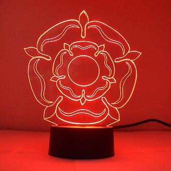 Tudor Rose Colour Changing LED Mini Acrylic Light