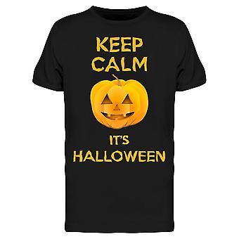 Keep Calm Is Halloween Tee Men's -Image by Shutterstock