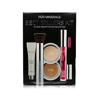 Best sellers kit (5 piece beauty to go collection) (1x primer, 1x powder, 1x bronzer, 1x mascara, 1x brush)   # blush medium 5pcs