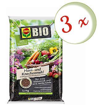 Sparset: 3 x COMPO BIO horn and bone flour, 2.5 kg