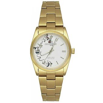Zadig & Voltaire ZVF414 watch - watch steel Gold Dial white woman