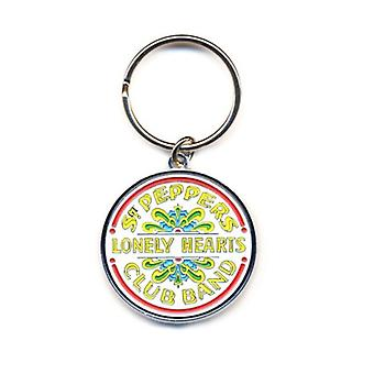 The Beatles Keyring Keychain Sgt Pepper Lonely Hearts band logo new Official